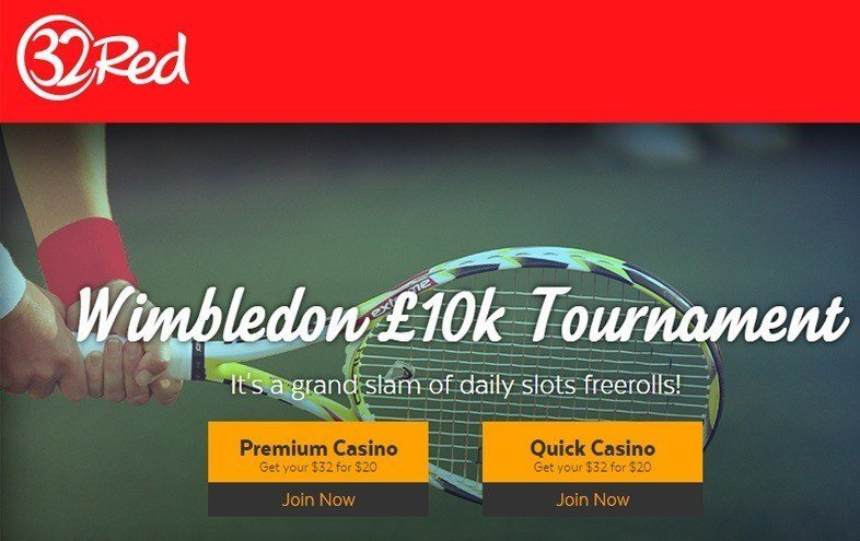 Freeroll Tennis Themed Tourneys at 32Red Casino