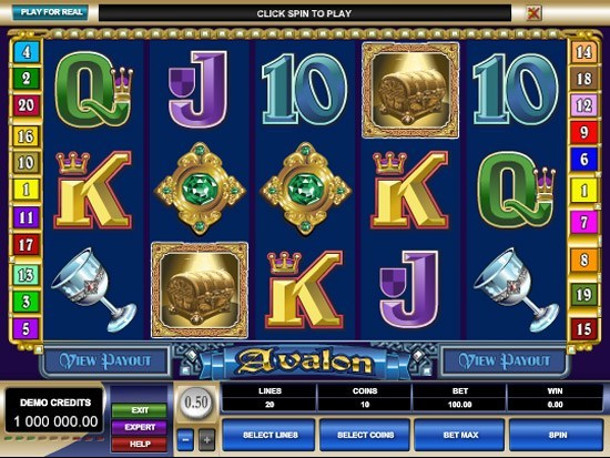 Play Avalon Slot for Real Money