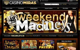 Go Mad with Weekend Promo at Casino Midas