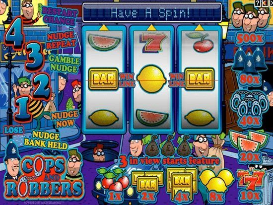 online casino no deposit bonus cops and robbers slot