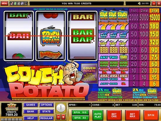 Play Couch Potato Slot for Real Money