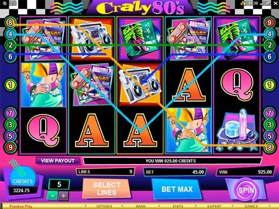 Play Crazy 80s Slot for Real Money