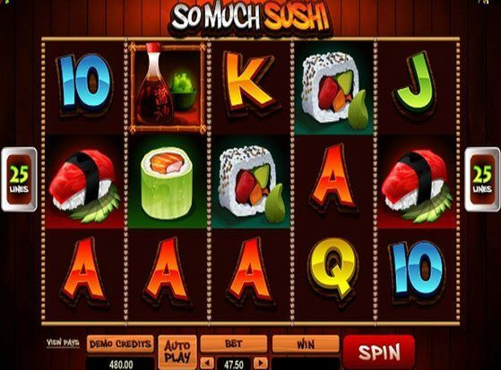 Play So Much Sushi Slot for Real Money