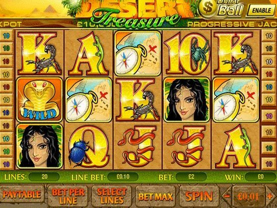 Play Desert Treasure Slots Online at Casino.com NZ