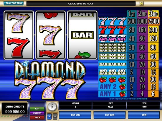 Play Diamond 7s Slot for Real Money