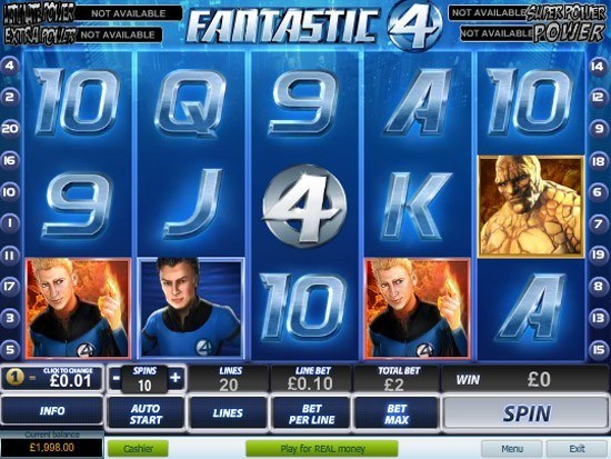 Play Fantastic Four Slot for Real Money