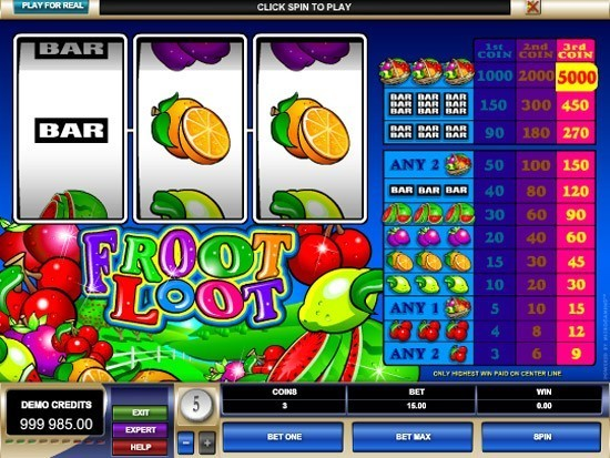 Play Froot Loot Slot for Real Money