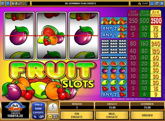 Fruit Slider Slots - Play for Free Instantly Online