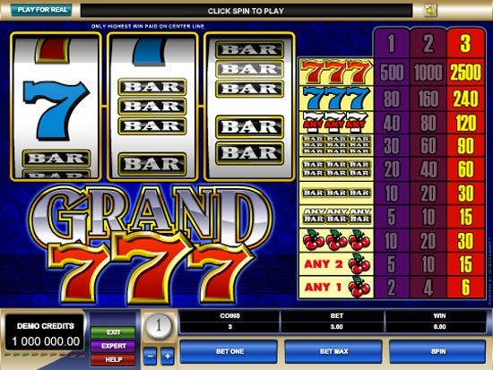 Play Grand 7s Slot for Real Money