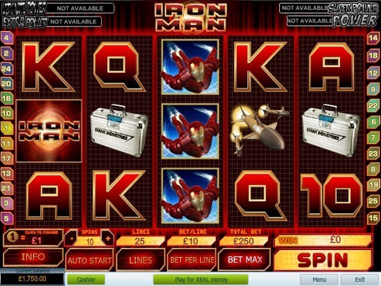 Play Iron Man Slot for Real Money