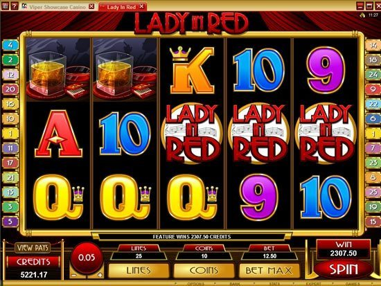 Play Lady in Red Slot for Real Money