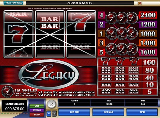 Play Legacy Slot for Real Money