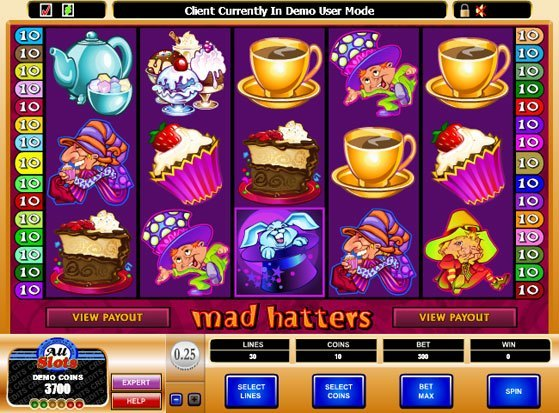Play Mad Hatters Slot for Real Money