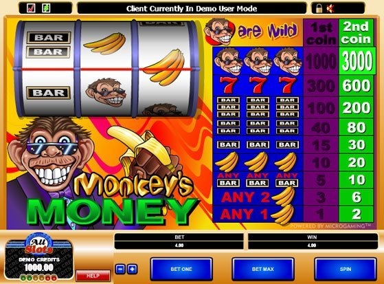 Play Monkey's Money Slot for Real Money