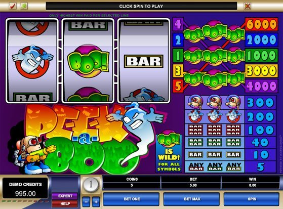 Play Peek-a-Boo Slot for Real Money