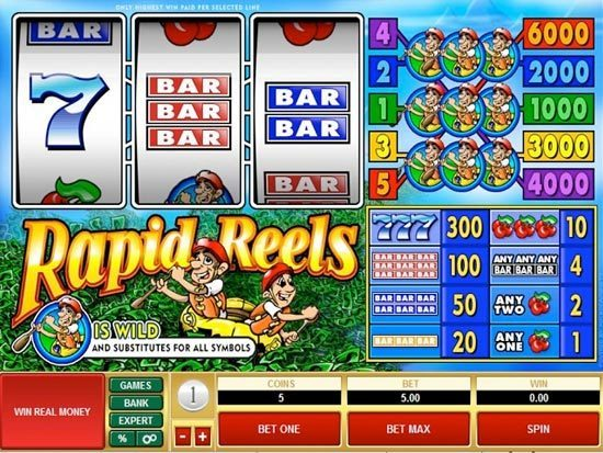 Play Rapid Reels Slot for Real Money
