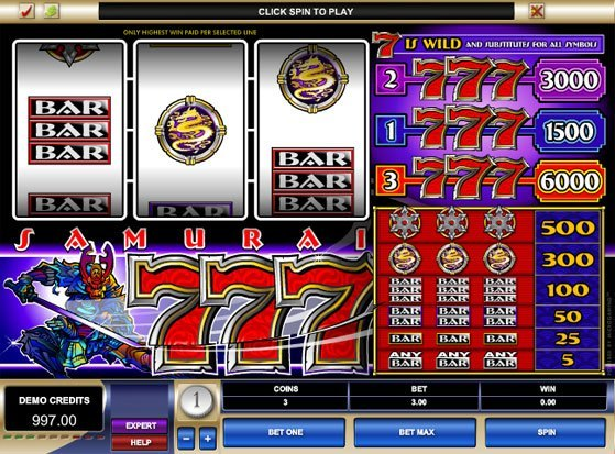 Play Samurai Sevens Slot for Real Money