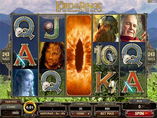 Play Lord of the Rings Slot for Real Money