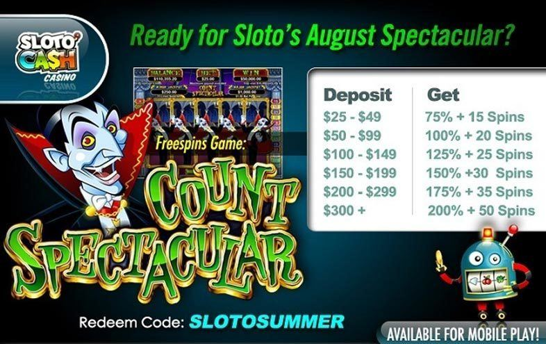Free Spins at SlotoCash in August
