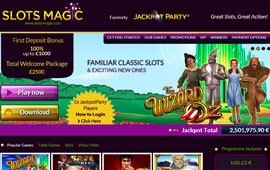 Wizard of Oz Slot at Slots Magic Casino