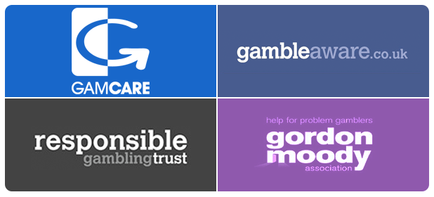 Responsible Gambling Trust, GamCare, GambleAware.co.uk and Gordon Moody Association