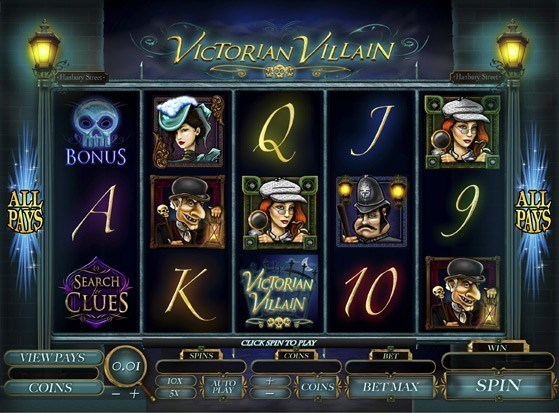 Play Victorian Villain Slot for Real Money