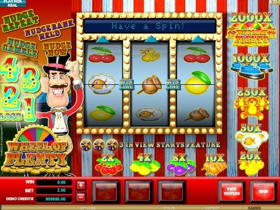 Play Wheel of Plenty Slot for Real Money