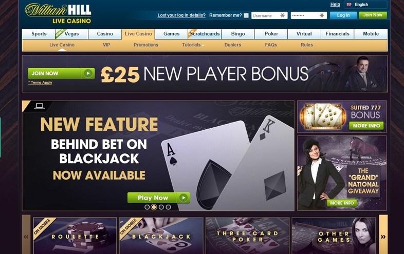 New Live Casino for William Hill Brand